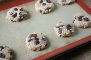 Oatmeal Cookies - Press balls with bottom of a glass
